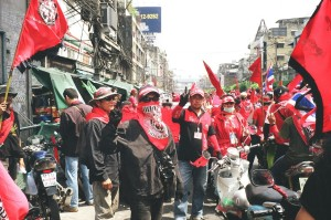 Red Shirts at the Bangkok Protests. Source: Creative Commons