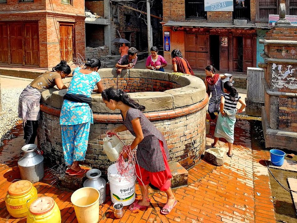 Well in Bhaktapur, Nepal. Source: Pixabay
