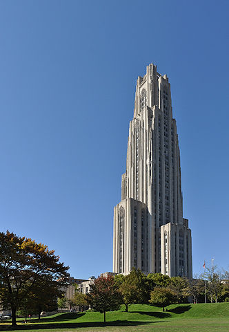 Cathedral of Learning, University of Pittsburgh. Source: Wikipedia